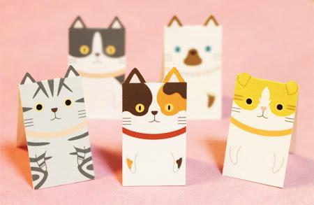 マグネットブックマーカー「しおり猫」