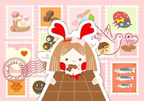 バレンタインデーにお菓子用語